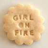 Girl on Fire Cookie