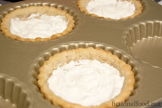 Goat Cheese in the tart shells
