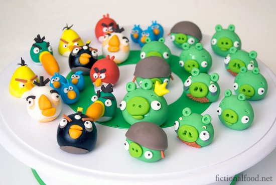 Angry Birds Fondant Figures