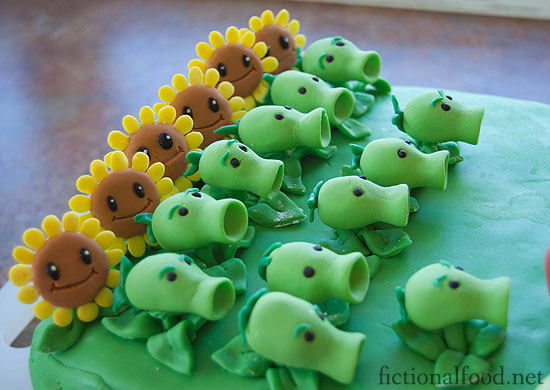 How To Make A Plants Vs Zombies Cake