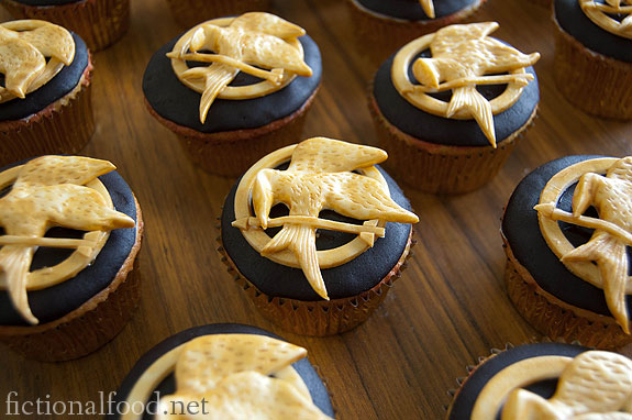 Mockingjay Cupcakes