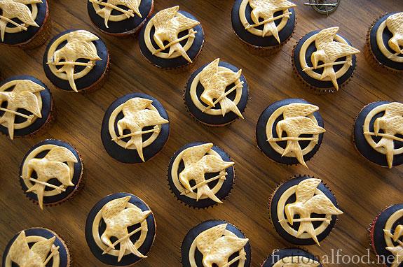 Mockingjay Cupcakes
