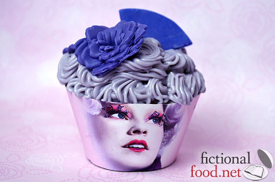 Purple Effie Trinket Cupcake