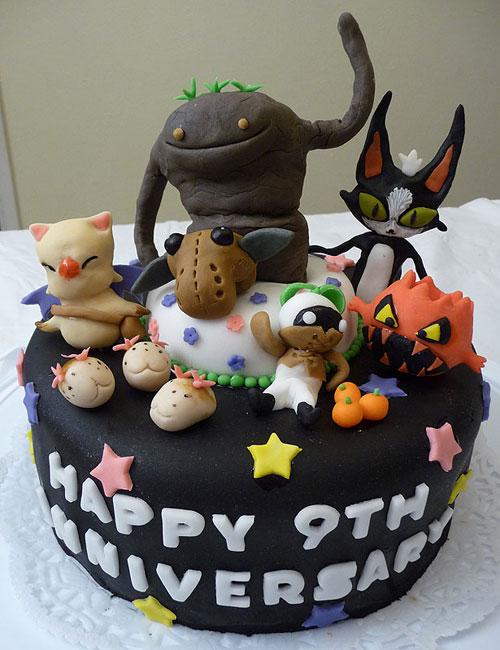 Final Fantasy XI 9th Anniversary Cake