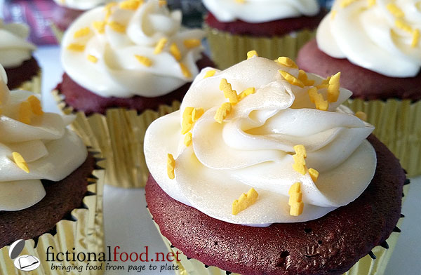 Gryffindor Red Velvet Cupcakes with Geeky Sprinkles